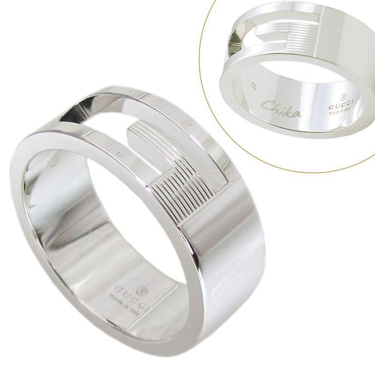グッチ リング メンズ レディース 指輪 シルバー925 Gマーク Gリング 名入れ無料